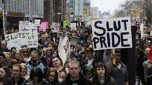 People take part in the Slutwalk protest in Toronto. (Mark Blinch/Reuters)