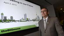 Bruce McCuaig, President and CEO of Metrolinx during a press conference on tuesday April 2, 2013. (Fred Lum/The Globe and Mail)