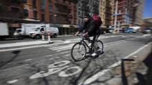 New York transportation commissioner Janette Sadik-Khan oversaw the addition of bike lanes, pedestrian plazas and concerted efforts to calm driving. (Richard Perry/The New York times)