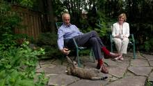 David and Kaaren Bell sit in the garden of their Ontario home in a rare moment of relaxation. These 'retirees' are likely busier than many people decades younger. 'I've had so many other irons in the fire,' says Dr. Bell, a 69-year-old consultant. (Galit Rodan for The Globe and Mail)
