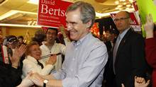 Canada's Liberal Leader Michael Ignatieff greets his supporters at a rally during the first day of his election campaign in Ottawa March 26, 2011. (Blair Gable/Reuters/Blair Gable/Reuters)