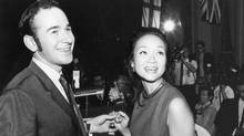 Stephen Clarkson is pictured with Adrienne Clarkson on Sept. 24, 1969. (Harry McLorinan/The Globe and Mail)