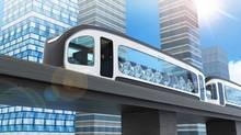 The Nexovia automated people mover designed for plane travellers to clear customs and security on their way to the airport. (Rending provided by Charles Bombardier)