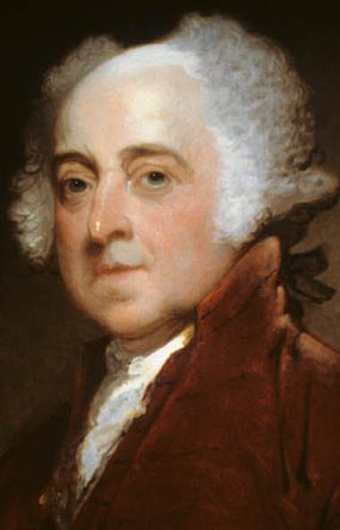U.S. president John Adams.