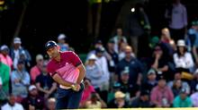 Sergio Garcia of Spain chips to the 15th green during the third round of the 2017 Masters Tournament at Augusta National Golf Club on April 8, 2017 in Augusta, Georgia. (Rob Carr/Getty Images)