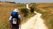 Rocco Rossi on a previous pilgrimage on the El Camino de Santiago in Spain. (Prostate Cancer Canada)