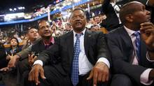 Civil rights activist Jesse Jackson (C) attends the first session of the Democratic National Convention in Charlotte, North Carolina September 4, 2012. (ERIC THAYER/REUTERS)