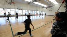 The Gymnasium at the Thomas L. Wells Public School, with has a mix of large windows, skylights and indoor lighting in Scarborough on December 19, 2012. (Deborah Baic/The Globe and Mail)