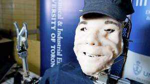 Brian is a prototype therapeutic robot that can show emotion through expressions and speech.