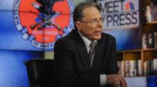 """WayneLaPierre, CEO and Executive Vice President, National Rifle Association, appears on """"Meet the Press"""" in Washington D.C. in this December 23, 2012 handout photo. (William B. Plowman/NBC/Handout/Reuters)"""