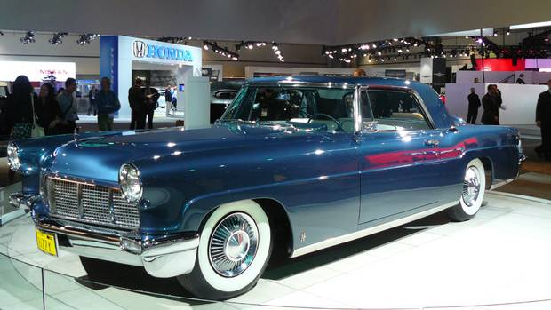 1956 Lincoln Continental Mark II: Continentals were hand made. They were painted numerous times, sanded, double lacquered, and polished to a shine. Owners included Frank Sinatra, Elvis Presley, Dwight Eisenhower, and Nelson Rockefeller. (Petrina Gentile for The Globe and Mail)