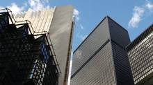 The Bay Street financial towers in Toronto. Canada's three biggest companies are banks, and there are a total of four among the Top 10. The other six spots are taken by commodities companies. (Kevin Van Paassen/KEVIN VAN PAASSEN/THE GLOBE AND MAIL)