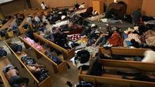 The First United Church Mission, an impromptu shelter for the homeless at 320 East Hastings in Vancouver, is starting a fundraiser to get bunk beds. Photo: Laura Leyshon for The Globe and Mail (Laura Leyshon/The Globe and Mail)