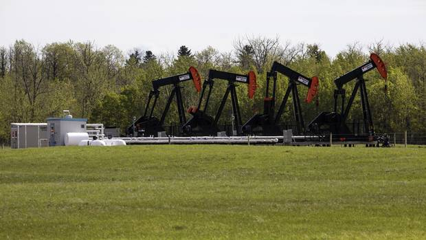 A small pump-jack oil well northeast of Edmonton that has been bought by a Chinese company, on May 18, 2017.