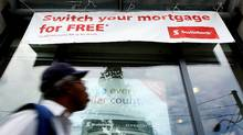 Mortgage advertising outside a Bank of Nova Scotia. (Deborah Baic/Deborah Baic/THE GLOBE AND MAIL)