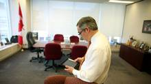Treasury Board President Tony Clement is a strong promoter of social media. (Dave Chan for The Globe and Mail)