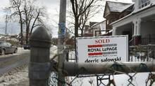 A house that was sold recently in downtown Toronto. (Fred Lum/The Globe and Mail)