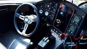 Casey Putsch's Batmobile replica seats two comfortably, and there is an iPad mounted in the middle of the dash, with Internet access, GPS and a police scanner.