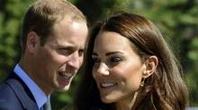 Prince William and his wife Catherine, Duchess of Cambridge, as they depart the Legislative Assemby in Yellowknife, Northwest Territories, on their nine-day tour of Canada on July 5, 2011. (TIMOTHY A. CLARY / AFP / Getty Images/TIMOTHY A. CLARY / AFP / Getty Images)