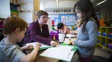Elizabeth Simpson who teaches French Immersion at Laura Secord Elementary in Vancouver April 3, 2014. (John Lehmann/The Globe and Mail) (John Lehmann/The Globe and Mail)