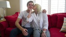 Connor McDavid and his mother Kelly are photographed at their home in Newmarket, Ontario on Friday August 21, 2015. (Kevin Van Paassen For The Globe and Mail)
