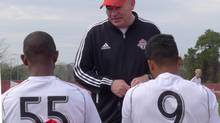 Toronto assistant coach Fran O'Leary has had a whirlwind month since becoming Ryan Nelsen's right-hand man at Toronto FC a month ago. (Neil Davidson/THE CANADIAN PRESS)