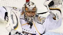 Nashville Predators goaltender Pekka Rinne. THE CANADIAN PRESS/Paul Chiasson (Paul Chiasson)