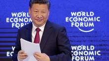 China's President Xi Jinping looks on at the World Economic Forum in Davos, Switzerland, Tuesday, Jan. 17, 2017. (Michel Euler/AP)