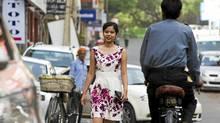 Priyanka Roychoudury, 18, is a young New Delhi entrepreneur. (Simon de Trey-White for The Globe and Mail/Simon de Trey-White for The Globe and Mail)
