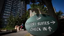 University residences at big institutions are likely to become luxury senior residences as learning moves online. (DARRYL DYCK For The Globe and Mail)