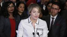Minister of Canadian Heritage Melanie Joly makes an announcement about an anti-Islamophobia motion on Parliament Hill in Ottawa on Wednesday, February 15, 2017. (PATRICK DOYLE/THE CANADIAN PRESS)