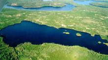 An aerial photograph shows one of the many bodies of water used for research in Northewestern Ontario's government-run Experimental Lakes Area (Image courtesy of John Shearer)