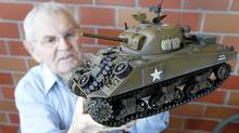 Peter Bunn, 89, drove a Sherman tank in the Second World War's North Africa campaigns. He now lives in Victoria. (Deddeda Stemler for The Globe and Mail)
