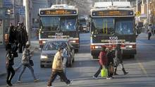 The TTC Dufferin 29 bus on its route in Toronto on March 11, 2010. (Kevin Van Paassen/Kevin Van Paassen/The Globe and Mail)