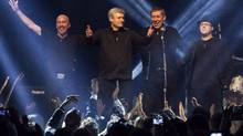 Former prime minister Stephen Harper and his band Herringbone including Phillip Nolan (far right). (THE CANADIAN PRESS/Chris Young)