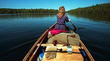Globe photographer Fred Lum and his wife paddle to another lake and campsite in Algonquin Provincial Park. (Fred Lum/The Globe and Mail)