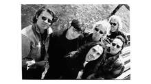 Blue Rodeo band members in 1994: (back row) Jim Cuddy, Bazil Donovan, Greg Keelor and Kim Deschamps and (front row) Glenn Milchem and James Gray. (The Canadian Press)