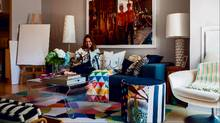 Sabrina Albanese is seen in her favourite room, her Toronto home living room on June 2, 2015. (Jennifer Roberts For The Globe and Mail)