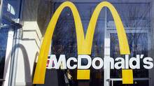 McDonald's logo is seen on the window of one of its restaurants in New York. (SHANNON STAPLETON/SHANNON STAPLETON/REUTERS)