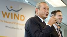 Naguib Sawiris, left, head of Orascom Telecom, with Anthony Lacavera, chairman of Wind Mobile (1--Sarah Dea/The Globe and Mail)