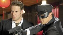"Seth Rogen (left) and Jay Chou in ""The Green Hornet"""