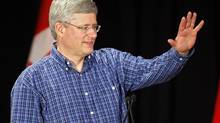 Prime Minister Stephen Harper speaks in Calgary on July 6, 2013. (JEFF McINTOSH/THE CANADIAN PRESS)