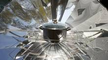 Hot enough to cook an egg? Maybe with a solar oven. (ALBERT GEA/REUTERS)