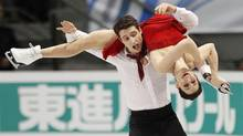 Canada's Tessa Virtue and Scott Moir skate during the ice dance free skate program at the International Skating Union Grand Prix of Figure Skating finals at the Pavillon de la Jeunesse in Quebec City Dec. 11, 2011. (Mathieu Belanger/Reuters/Mathieu Belanger/Reuters)