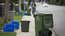 Emily Carr University student, Andreas Eiken, and his team are designing a prototype for recycling bins that will be tested this summer by Multi Materials BC (MMBC). (John Lehmann/The Globe and Mail)