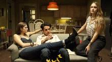From HBO's Girls: Allison Williams, Chris Abbott, Jemima Kirke. (JOJO WHILDEN)