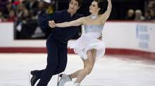 Tessa Virtue and Scott Moir perform their free program in dance competition at the Canadian Skating Championships Saturday January 11, 2014 in Ottawa. (Adrian Wyld/THE CANADIAN PRESS)