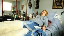 Emma Maria Eddy, 84, at her home in Cole Harbour, N.S. She is visited and treated at her home. (Paul Darrow/The Globe and Mail/Paul Darrow/The Globe and Mail)
