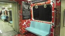 A subway car in Taipei was decorated with the Unikko pattern in November, 2013, to mark the opening of the city's first Marimekko store. (Marimekko)