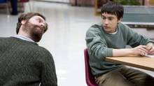 Zach Galifianakis (left) and Keir Gilchrist (right) in a scene from It's Kind of a Funny Story (K.C. Bailey/Focus Features)